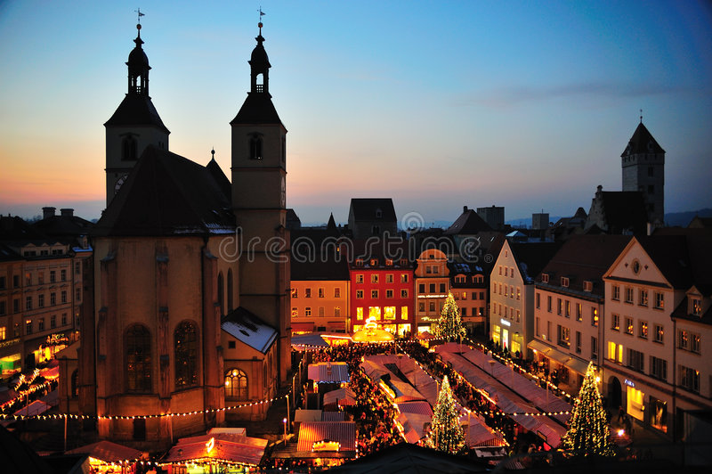 christkindl αγορά Χριστουγέννων στοκ φωτογραφίες με δικαίωμα ελεύθερης χρήσης