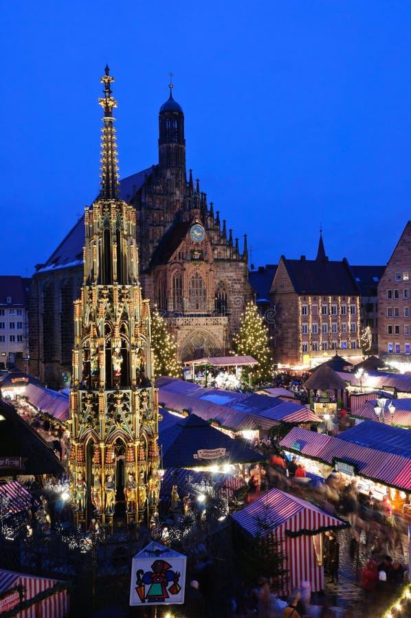 christkindlesmarkt纽伦堡 库存图片