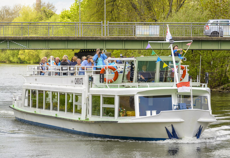 Christl ship on River Regnitz royalty free stock photography