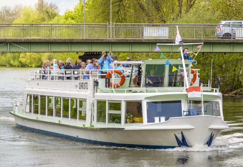 Christl statek na Rzecznym Regnitz fotografia royalty free
