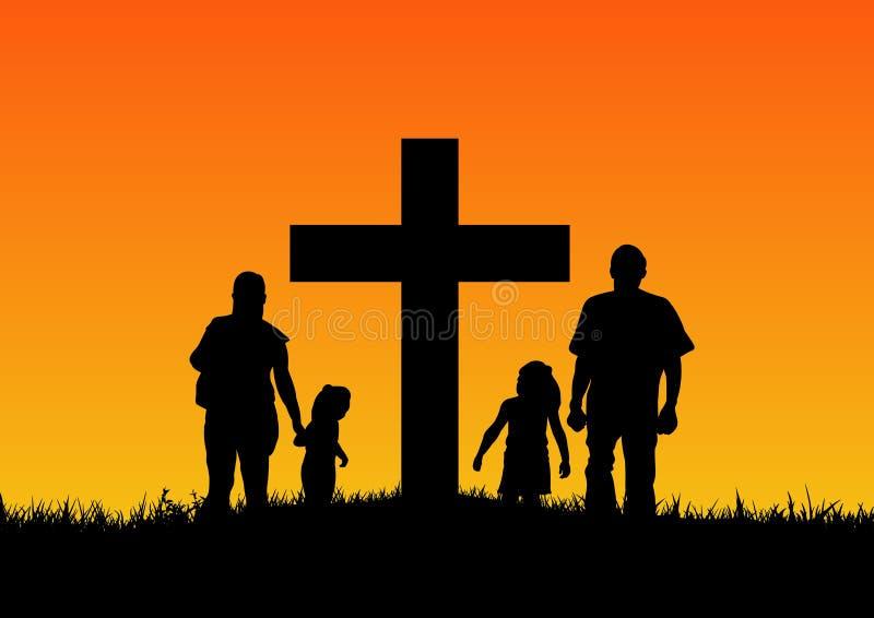 Christliche Familie lizenzfreie abbildung