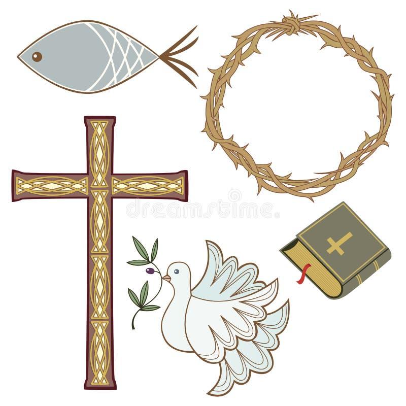 Christliche Symbole lizenzfreie abbildung