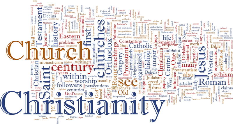 Christliche Wortwolke lizenzfreie abbildung