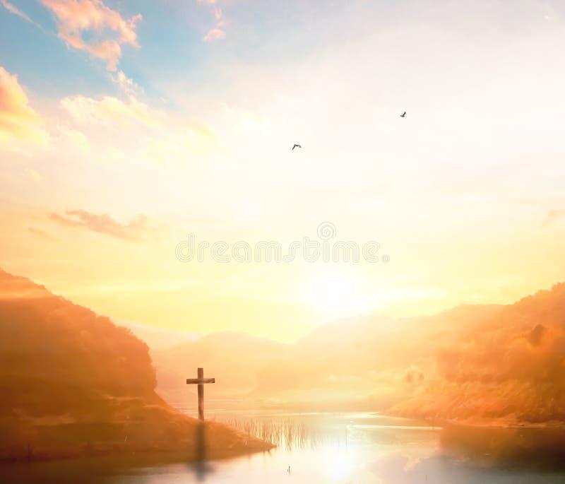 Christlicher Hintergrund mit Kopienraum für Ihr tex lizenzfreie stockfotografie