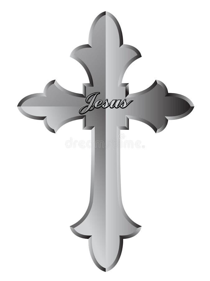 Christliches Kreuz lizenzfreie abbildung