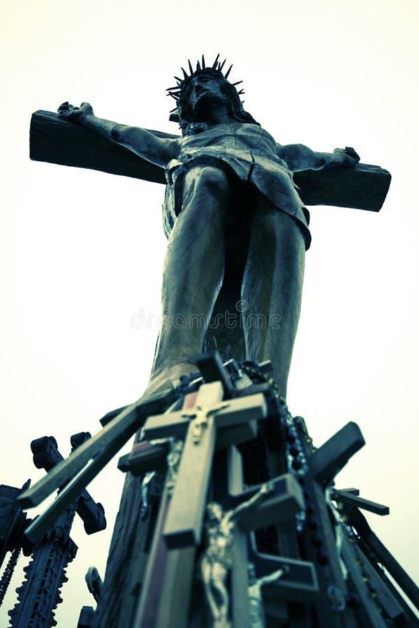 Christliches Kruzifix und Kreuz lizenzfreie stockfotos