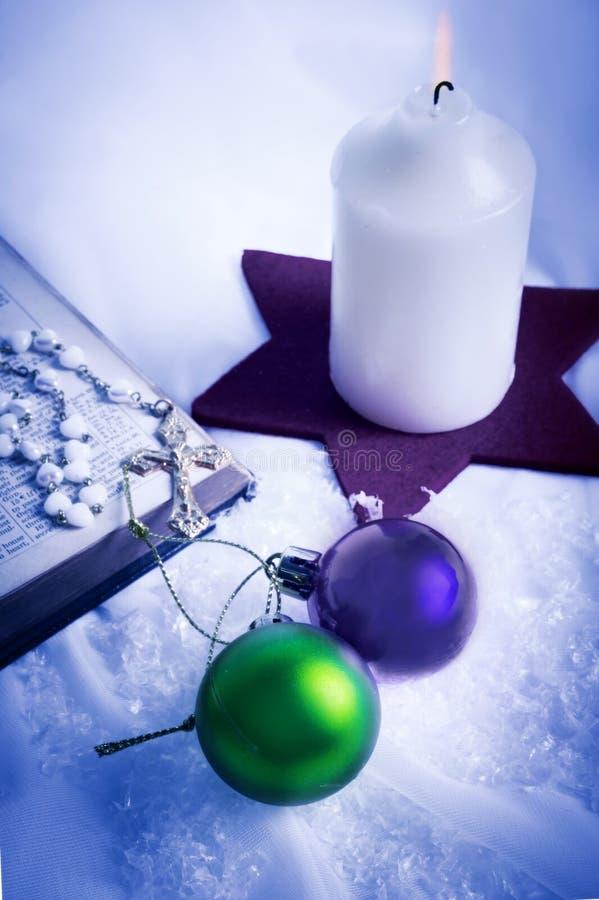 Christliches Weihnachten stockbild