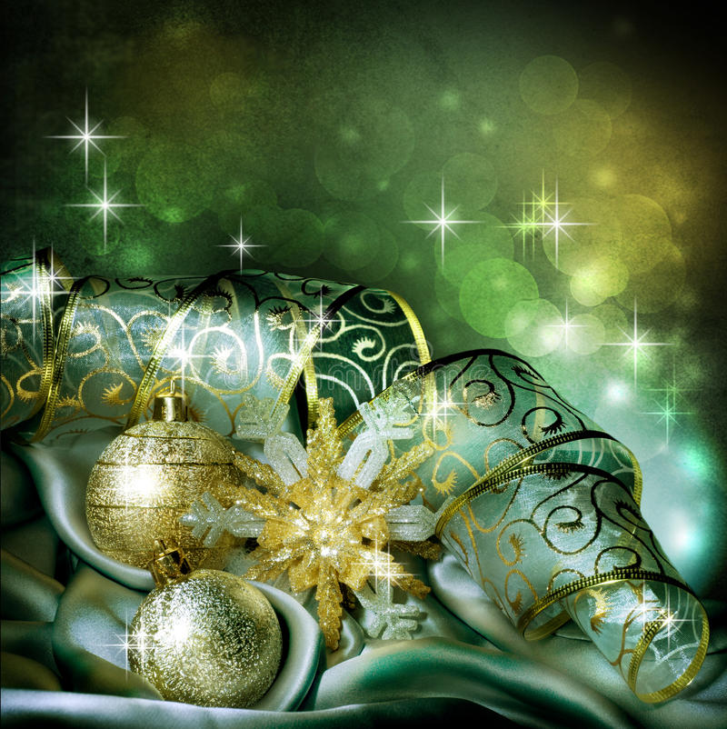 Christmas. Beautiful old-styled Christmas Decoration.With copy-space vector illustration