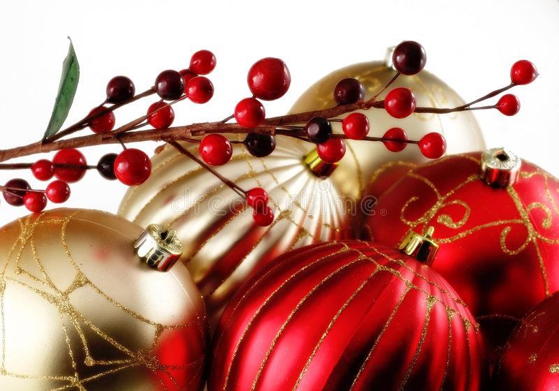 Christmas. Decoration, great for backgrounds, isolated on white stock photos