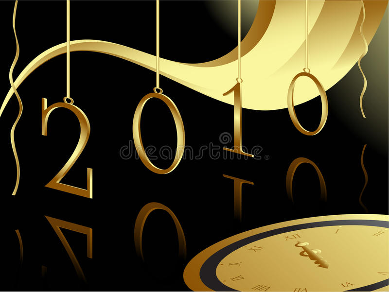 Download Christmas And 2010 New Year Card Stock Vector - Illustration: 11784898
