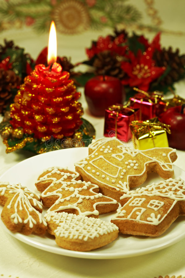 Christmas. Still life with gingerbread or small gifts royalty free stock image