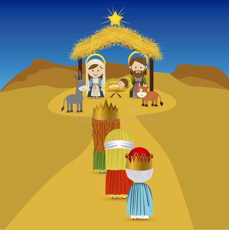 Christmas. Design over sky background vector illustration vector illustration