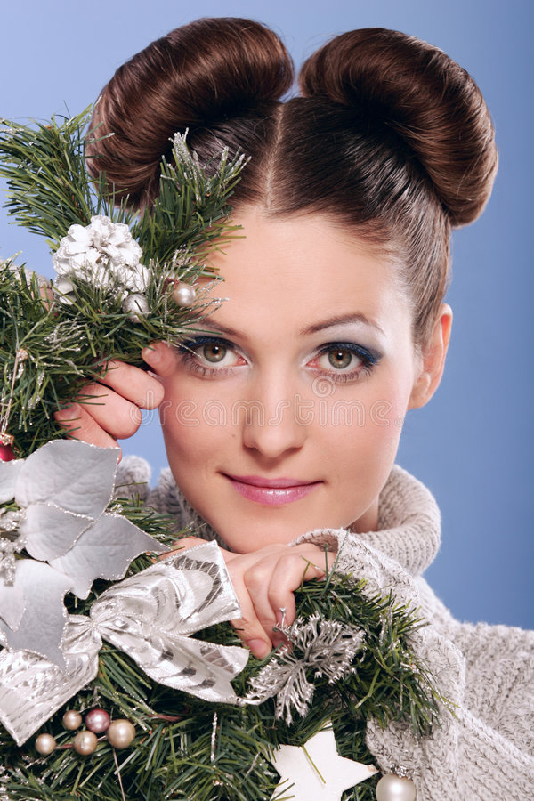 Download Christmas stock image. Image of hair, hide, beauty, blue - 6426391