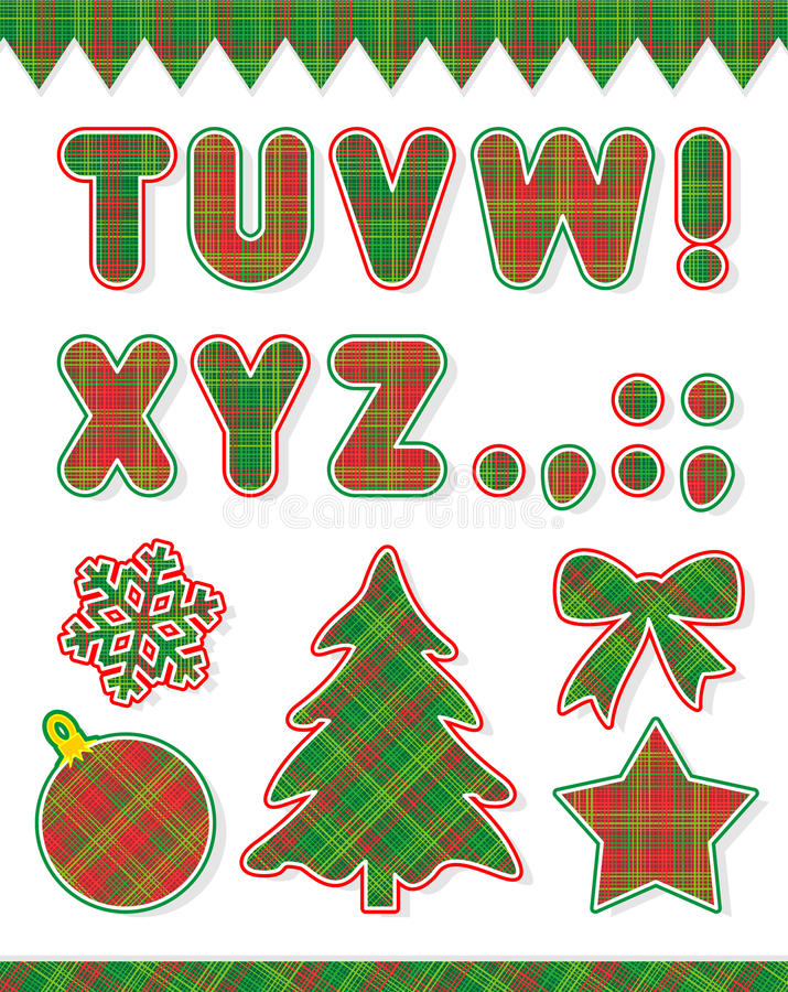 Download Christmas ABC set, part 2 stock vector. Image of collection - 12021774