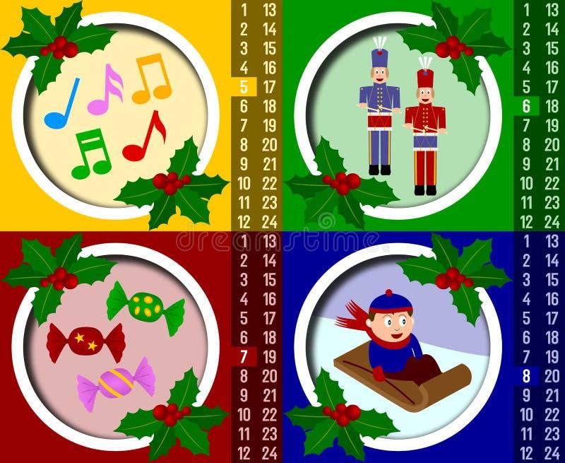 Download Christmas Advent Calendar [2] Stock Illustration - Image: 6543523