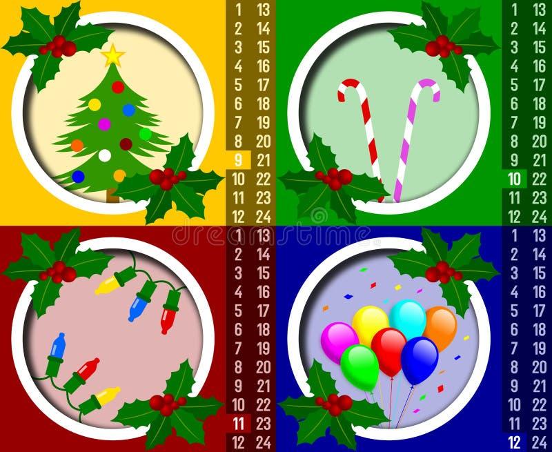 Download Christmas Advent Calendar [3] Stock Illustration - Image: 6543529