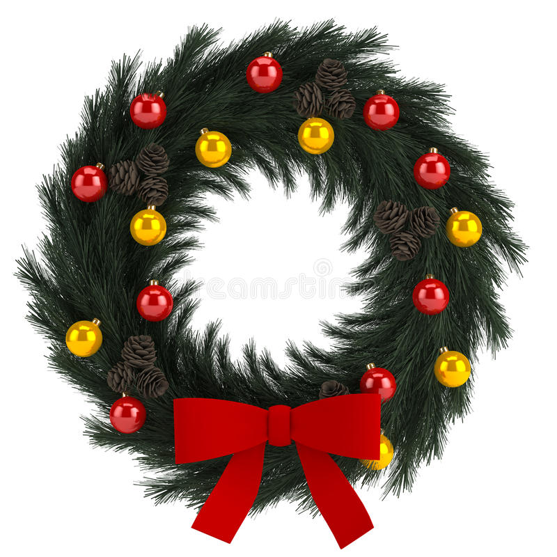 Download Christmas Advent Wreath Isolated On White Stock Illustration - Image: 33854375