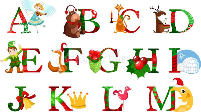 Download Christmas alphabet stock vector. Image of christmas, santa - 28242509