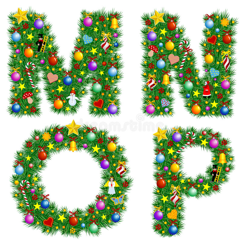 Free Christmas Alphabet Stock Photography - 3609052