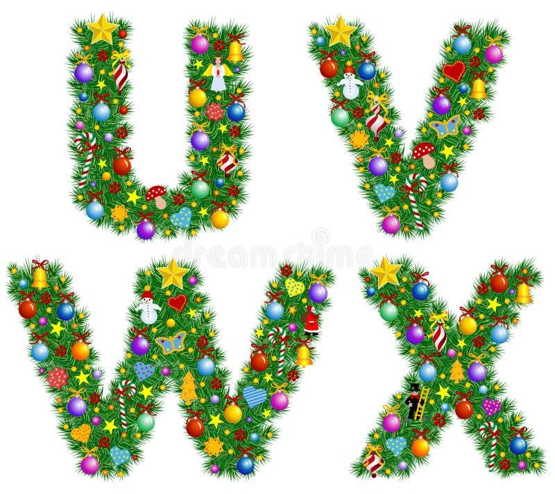 Download Christmas Alphabet stock vector. Image of tree, alphabet - 3609372