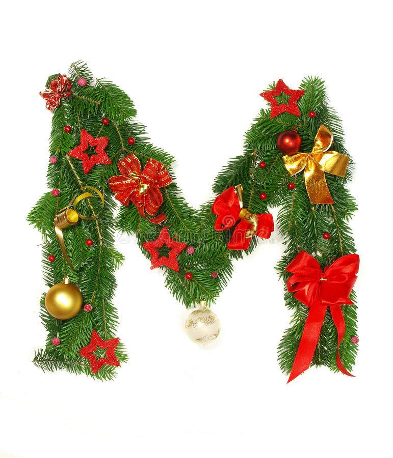 Download Christmas Alphabet Letter M Stock Photo