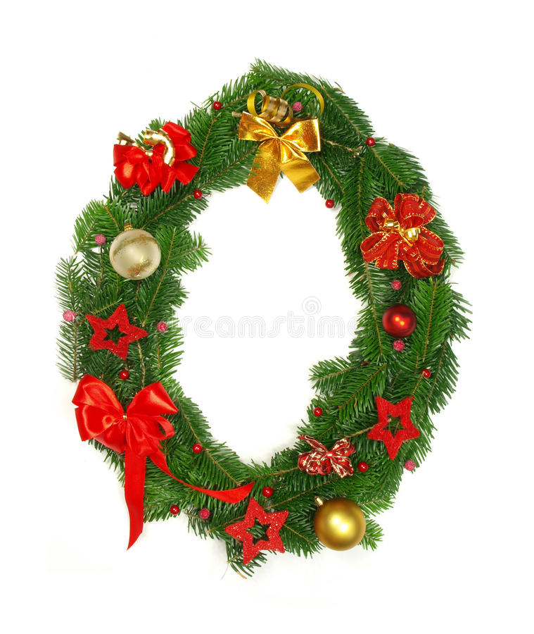 Christmas Alphabet number 0. Isolated on white background stock photo