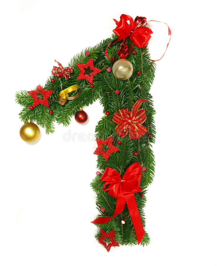Christmas alphabet number 1 stock image image 16640063 for Alphabet christmas wreath