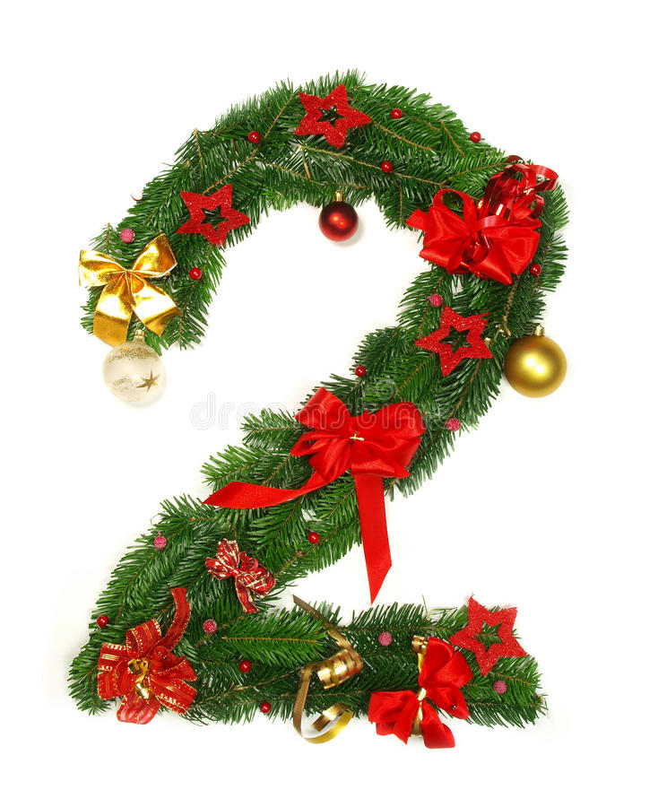 Christmas Alphabet Number 2 Royalty Free Stock Images - Image: 16640069