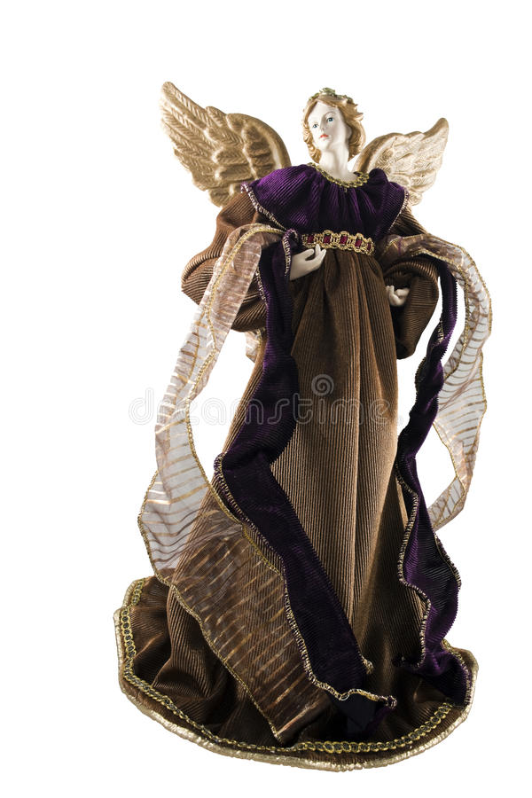 Christmas Angel. Isolated on a white background royalty free stock image