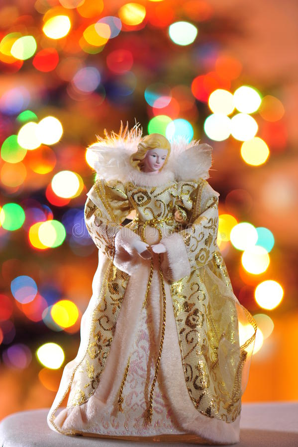 Christmas Angel. The religious significance of Christmas suggested by the Angel on blurry background royalty free stock images