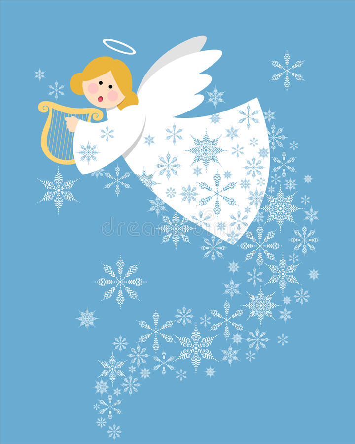 Download Christmas angel stock vector. Illustration of snow, christmas - 17495073