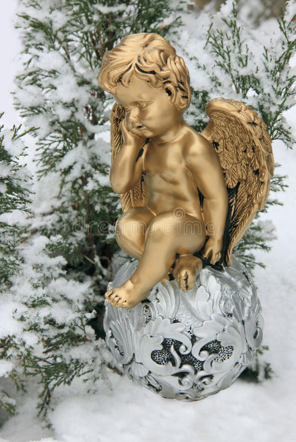Christmas angel. stock photos