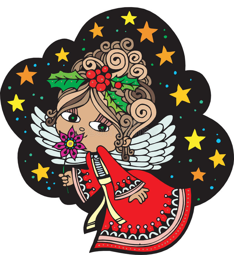 Christmas Angel 6. Christmas Card Angel 6. Christmas Card with Angel, , fully editable