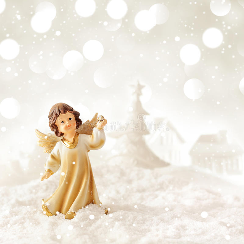 Download Christmas angel stock image. Image of winter, decoration - 46974625