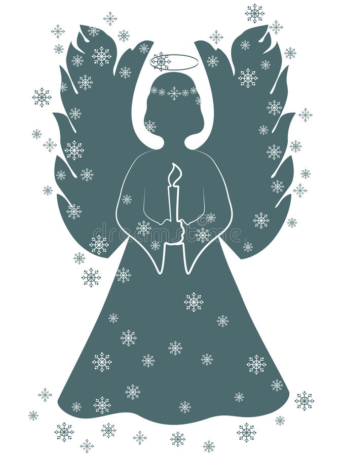 Download Christmas Angel With A Candle Stock Vector - Image: 16504164
