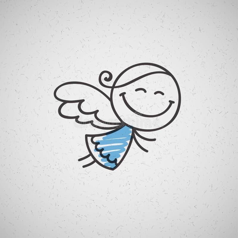 Christmas angel stock illustration