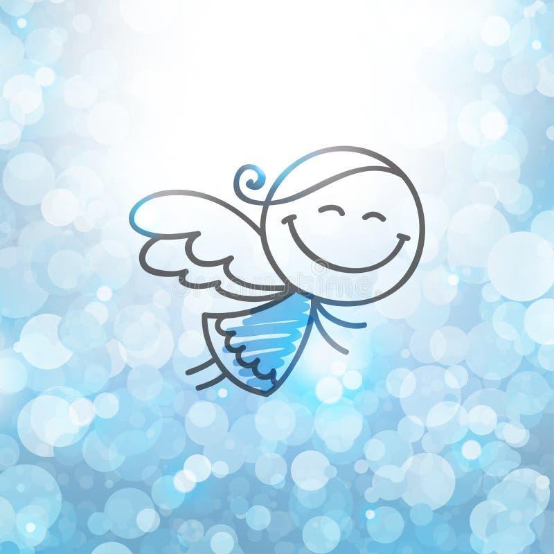 Christmas angel royalty free illustration