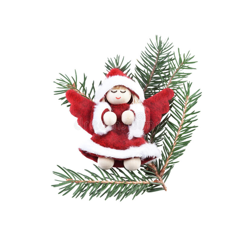 Download Christmas Angel Decoration On White Stock Photo - Image: 35281944