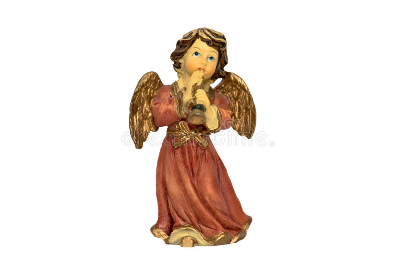 Download Christmas Angel Figure Playing Horn Stock Photo - Image: 4629748