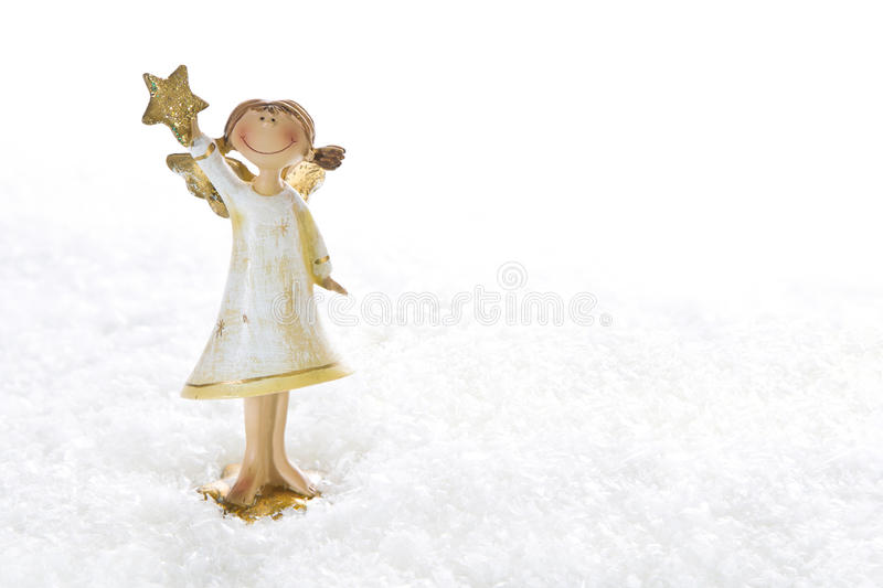 Download Christmas Angel - Isolated For A Christmas Card Or Religious Bac Stock Photo - Image: 34863586
