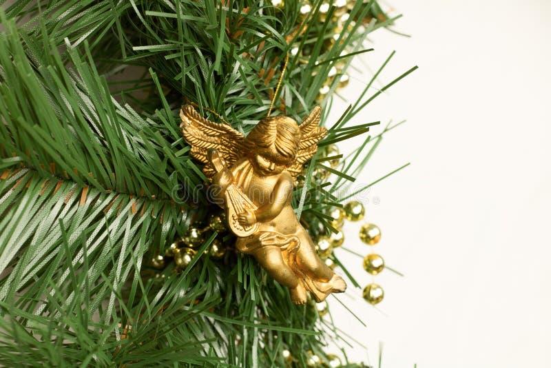 Christmas angel. On christmas tree stock photos