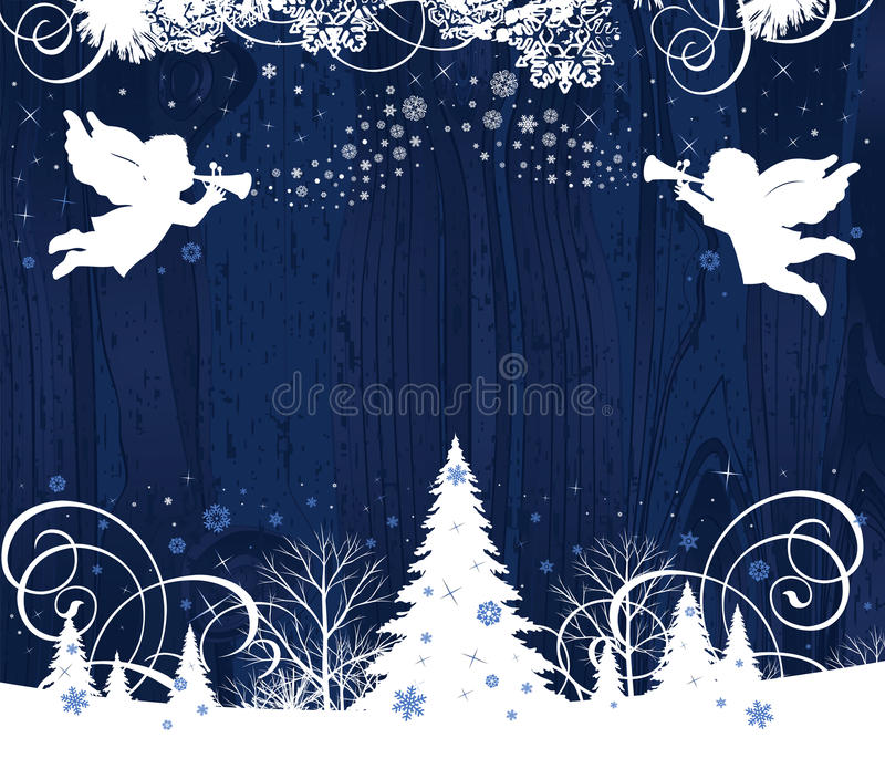 Christmas Angels. royalty free stock photography