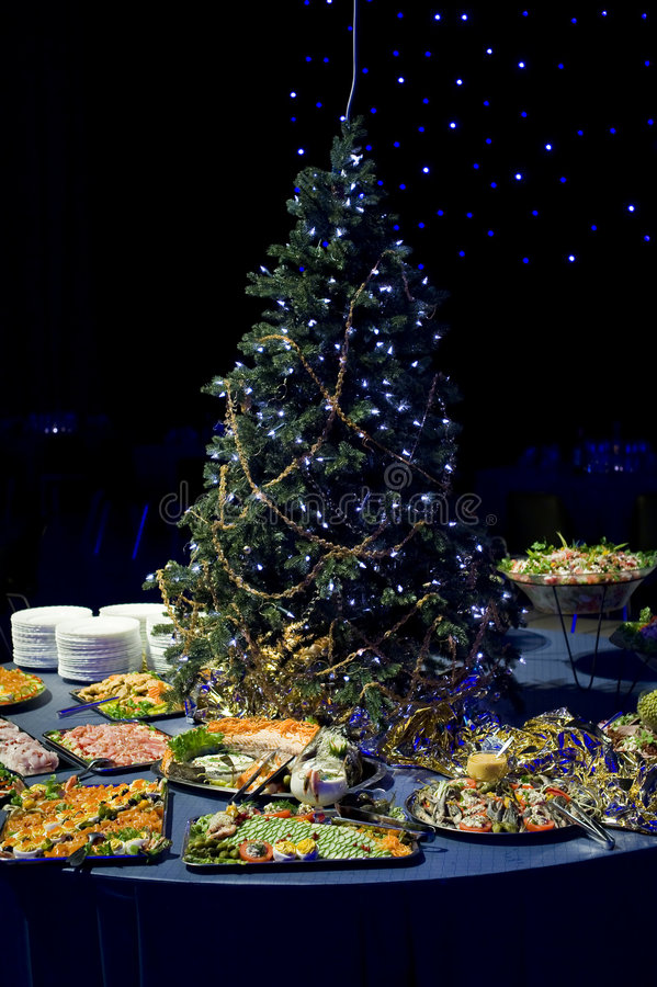 Christmas appetizer display royalty free stock images
