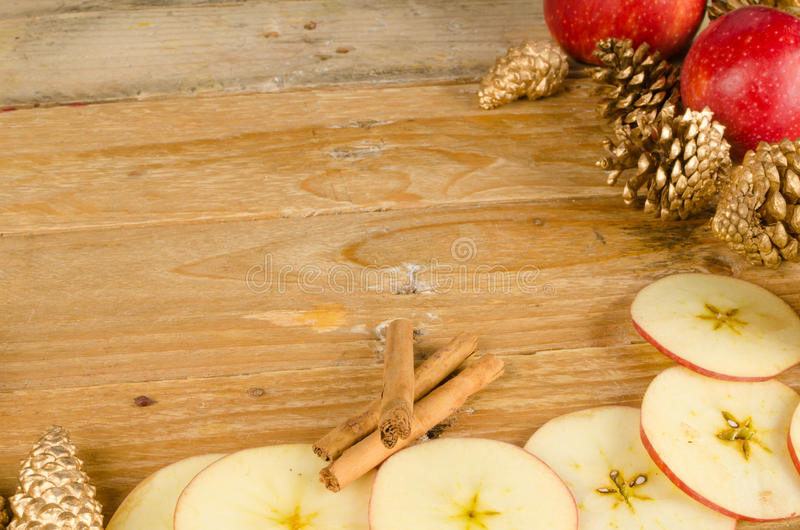 Christmas apples still life royalty free stock images