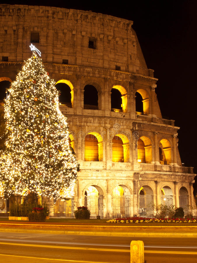 Free Christmas At Colosseum Royalty Free Stock Photo - 28848005