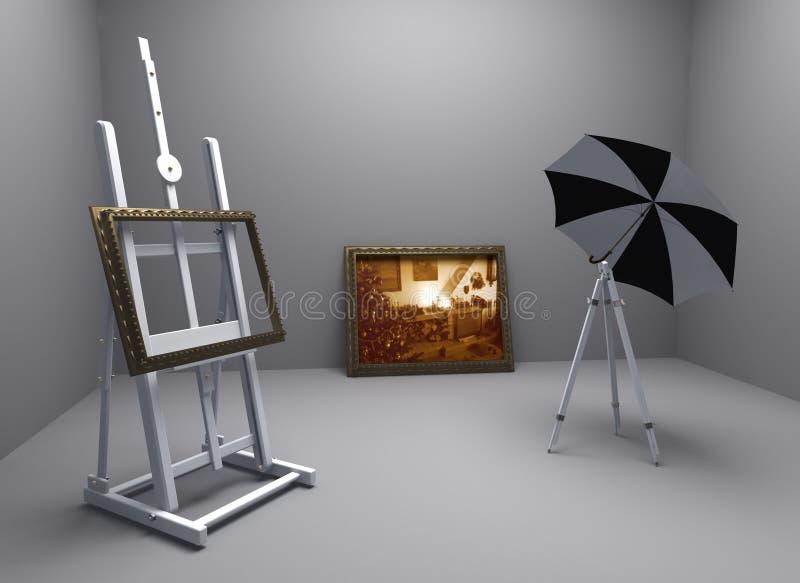 Download Christmas atelier stock illustration. Image of wallpaper - 3817702