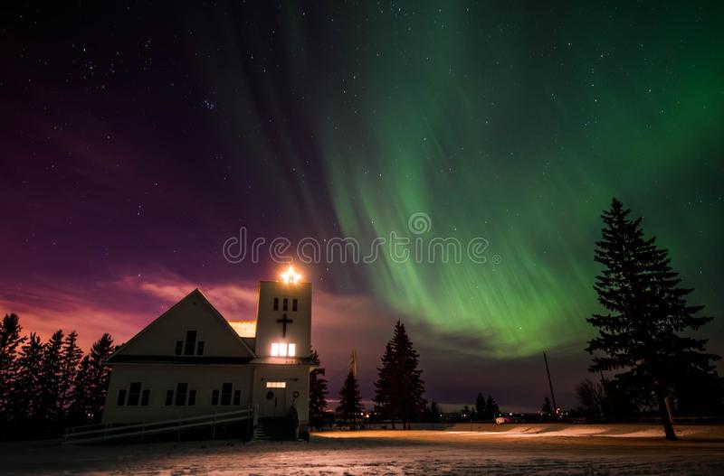 Christmas Aurora stock photo