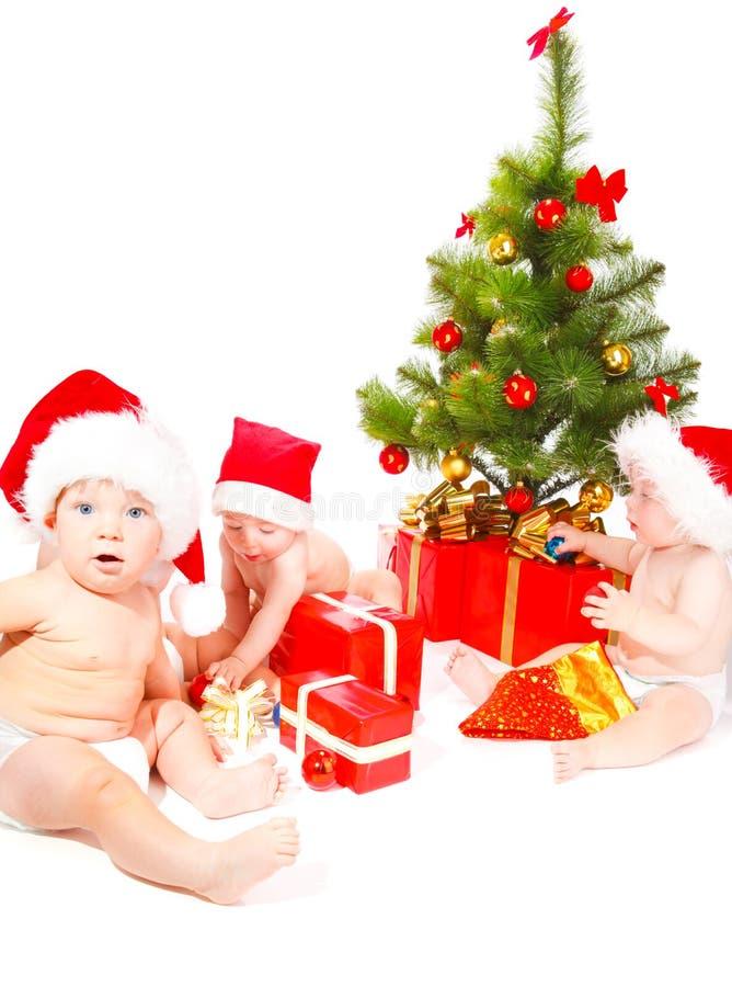 Christmas babies royalty free stock photos