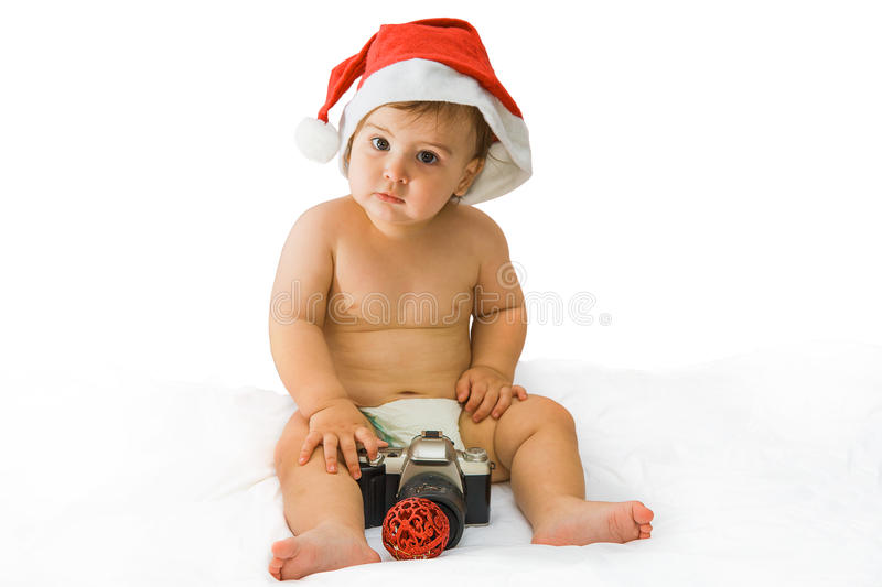 Download Christmas baby stock photo. Image of playing, looking - 27835100
