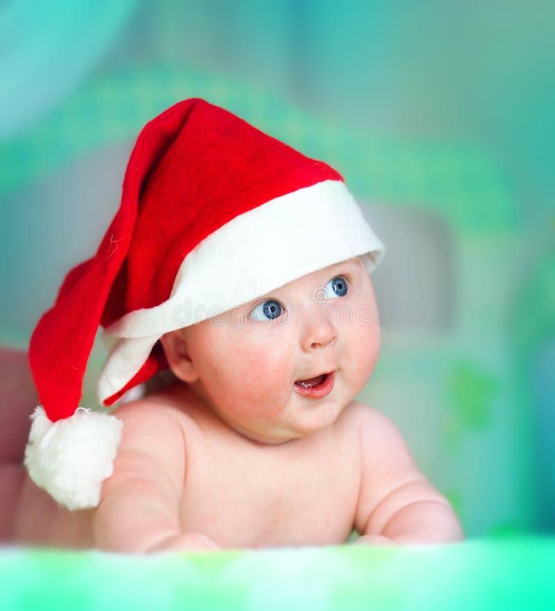 Christmas baby royalty free stock photo